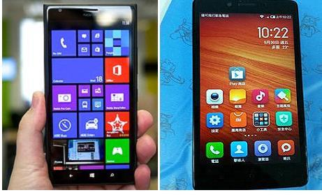 Specs Comparison between Xiaomi Redmi Note and Microsoft Lumia 535
