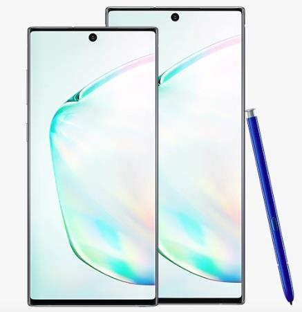Samsung Galaxy Note 10 plus and Galaxy Note 10 smartphones images