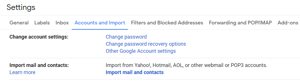 Import Mail and contacts from Outlook or Yahoo to Gmail
