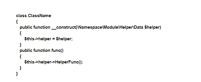 Calling HelperFunc() using DI