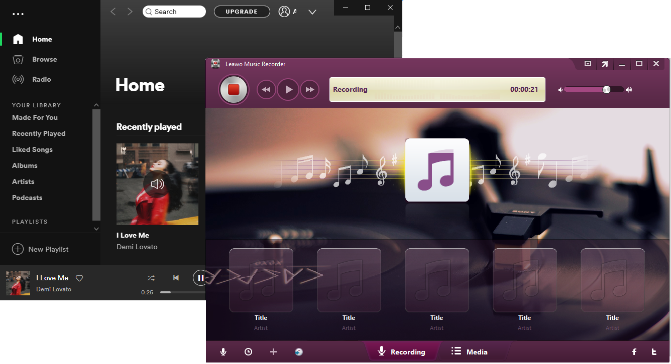 Live Recording from Spotify with Leawo Music Recorder