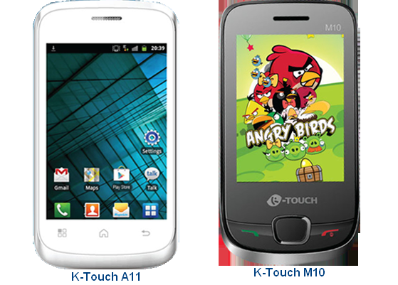 2 Latest Low Cost Mobile Phones K Touch A11 And K Touch M10 Launched In The Indian Market